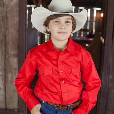 New Boys 100% Cotton Red Dress Shirt - 8056F Boys ShirtBrigalow