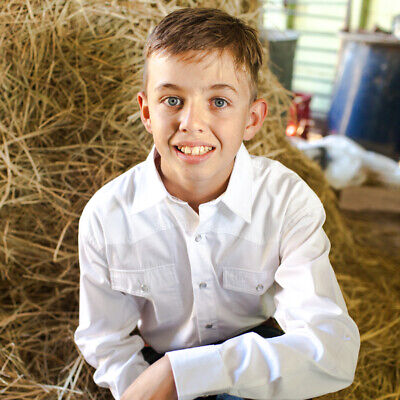 New Boys 100% Cotton White Dress Shirt - 8056-J Boys ShirtBrigalow