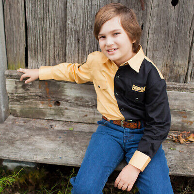 New Boys Two Tone Cotton Shirt - 8058L - Sand/Black Boys ShirtBrigalow