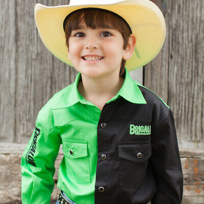 New Boys Two Tone Cotton Shirt - 8058-X - Lime/Black Boys ShirtBrigalow