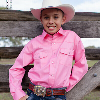 New Boys 100% Cotton Pink Dress Shirt - 8056-P Boys ShirtBrigalow