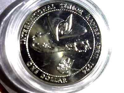 Rare Bermuda  Proof 1 Dollar 1996 April - International Senior Games