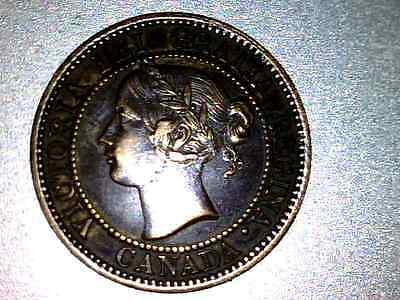 1859 Canada  Large Cent, Rotated 30 Degrees         Xf+      #xv265