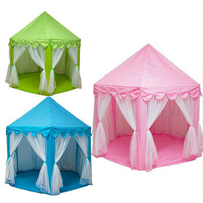 Pop Up Princess Castle Play Tent Girl Fairy House Indoor Outdoor Playhouse Toys