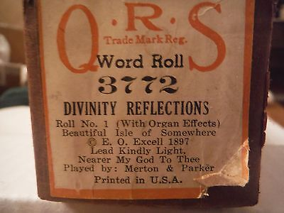 QRS  Divinity Reflections-being a medley of older hymns        3772