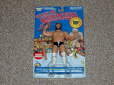 LJN WWF Wrestling Superstars Hacksaw Jim Duggan MOC New Blue Card Grand Toys
