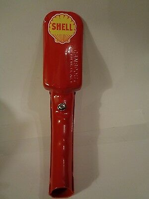 Vintage SHELL Gasoline Station Gas Motor Metal Pump OIL CAN FUNNEL Spout
