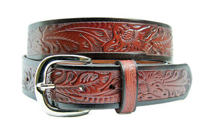 New Belt - Western - Leather - Boys - Embossed - [Code-321] Boys Western Belt Br