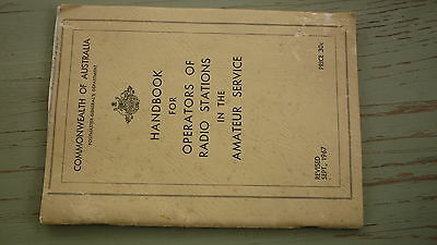 Old 1967 Australian Government Handbook For Radio Stations & Operators 48 Pages