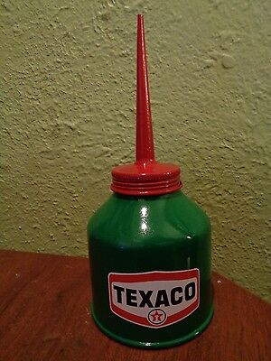 Vtg TEXACO Gasoline Station Gas Motor Pump OIL CAN Oiler Spout  Big Red Star