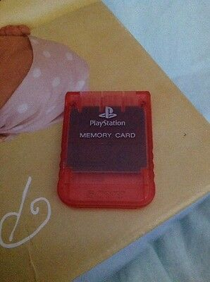 Memory Card Ps1 Psx Playstation Originale Sony rosa