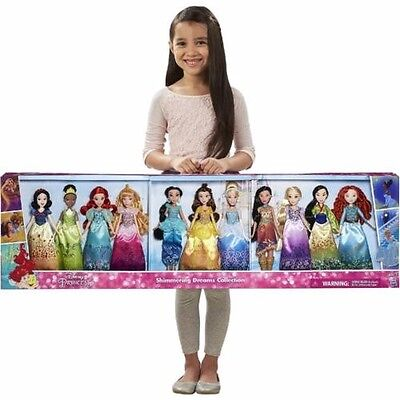Disney Princess Shimmering Dreams Collection 11 Pack Girls Dolls