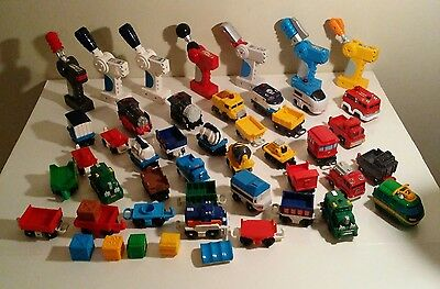 Fisher Price GeoTrax Remote Control Steam Engine FIRE CONSTRUCTION CARS HUGE LOT
