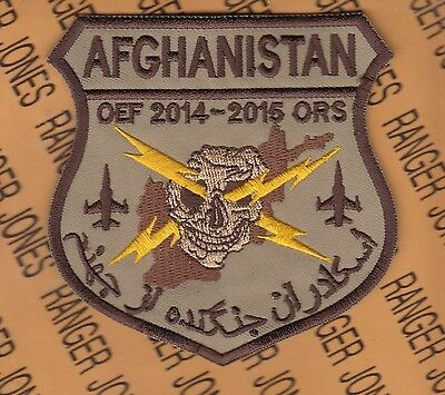 """USAF Air Force Fighter Sq FS F-16 Desert OEF ORS 4"""" patch"""