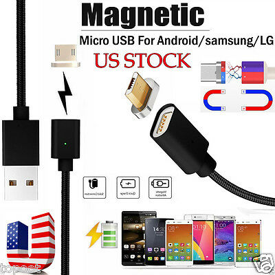 2.4 A Micro USB Charging Cable Magnetic Adapter Charger for Samsung For Android