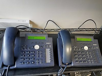 Lot of (2) Snom 320 Business VoIP Desk Phone