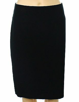 Alfani NEW Deep Black Womens Size 14 Knit Seamed Curvy Pencil Skirt $29 471