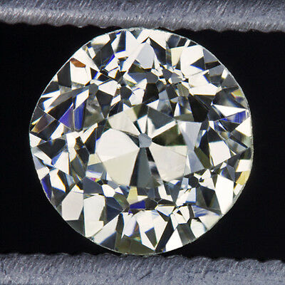 VINTAGE 1/2ct OLD EUROPEAN MINE CUT DIAMOND K-L VS2 LOOSE ROUND ANTIQUE 0.52ct
