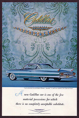 1961 Vintage Cadillac Car - Van Cleef Arpels Jewelry Photo Print AD