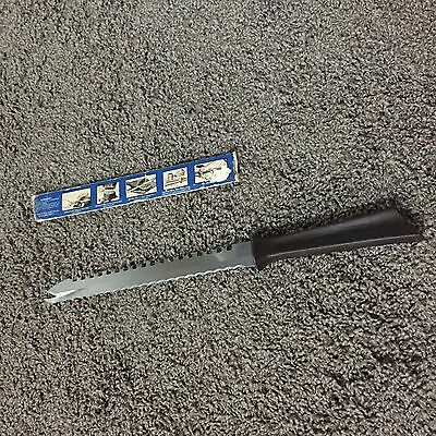 "Vintage Quikut 9.5"" stainless steel Serrated Carve & Serve Kitchen Knife"