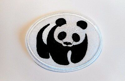 1x Panda Bear Patches Embroider Cloth Patch Applique Badge Sew On Animal