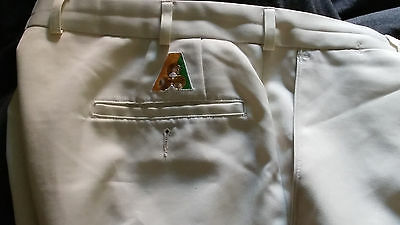 White Lawn Bowls Pants Size 96/86 Fletcher Jones