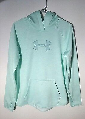 Women's Under Armour Storm Semi Fitted Mint Green Pullover Hoodie Size Medium