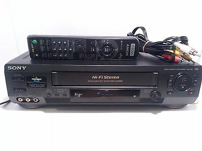 Sony SLV-N60 VHS VCR Video Cassette Recorder Player Stereo HiFi with Remote
