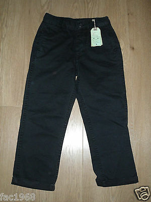 All Saints Milliner Boy's Chino Trousers Jeans Navy Blue 8 Years Cotton  New