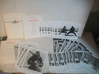1983 'Revenge of the Ninja' Press Kit with 32 8x10 photos 8 sets of 4 SHO KOSUGI