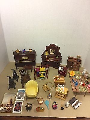 Dollhouse Miniature  Mixed Lot Of Vtg. Furnitures Scale 1/12