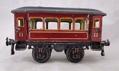 Wagon Passagers Jep? Hornby? Cr? En Tole Lithographiee Echelle O (B1049)