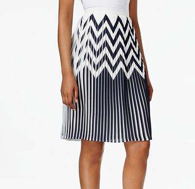 Tahari by ASL NEW White Womens Size 16 Printed A-Line Pleated Skirt $89 276