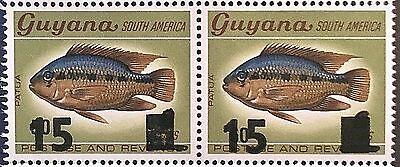 Guyana Stamps: Fish Overprints - 15c on 50c on 6c And 15c on 60c on 6c