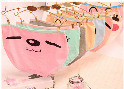 3pcs Candy Color Expression Kid Girls Panties Underwear Soft Comfortable   RG