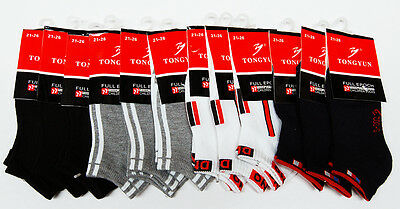 12 pairs Brand new Children Ankle cotton ankle sport socks (size 2-8)