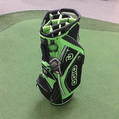 OGIO Cirrus Premium Cart Bag - LOADED WITH FEATURES - 14 Way Top - Green/Black