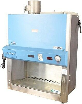 NuAire NU-430-400 Lab Exhaust Fume Hood Laminar Flow Biological Safety Cabinet