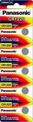 Panasonic CR1220 Lithium Battery Single Battery 5 pack