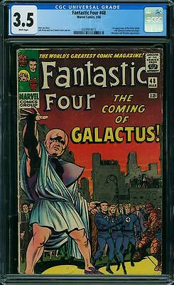 FANTASTIC FOUR #48 CGC 3.5 1st Silver Surfer & Galactus! White Pages!