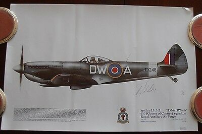 WW2, Aviation Signed Print, Spitfire, Limited Edition 13 of 16