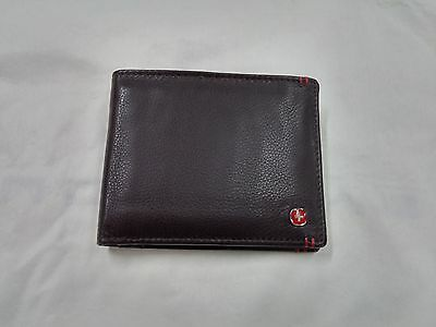 Men's Swiss Genuine Leather Trifold Wallet Credit Card Id Purse