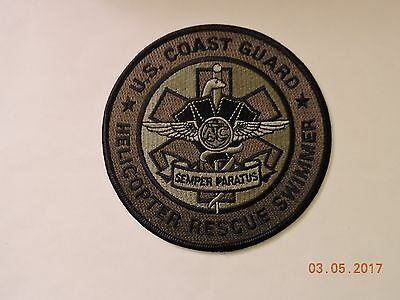 US Coast Guard Helicopter Rescue Swimmer EMT EMS Subdued USCG Military Patch #52