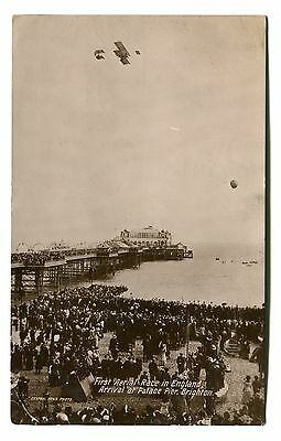 Brighton First Aerial Race in England arrival at Palace Pier