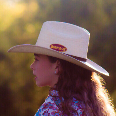 New Palm Leaf - Natural-160 Cowboy Cowgirl Hat Brigalow