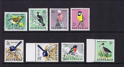 Australian Pre-Decimal Stamps 1964-65 Birds with Both Papers Set 8 MNH