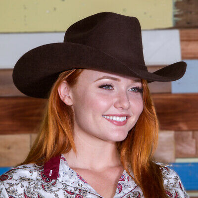 New Acorn/Brown Wool Felt Hat -170 Cowboy Cowgirl Hat Brigalow