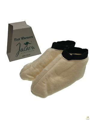 JACARU 100% Australian Sheepskin Wool Slippers Foot Warmers Winter Warm Washable