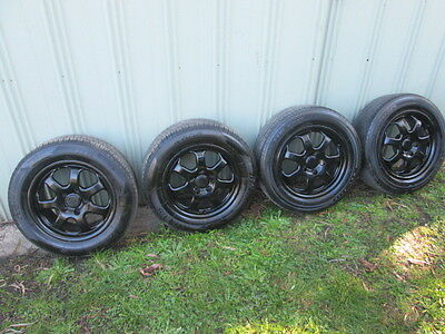 Ford Falcon Roh Alloy 16 Inch Wheels And Tyres X 4 Suit Au/ba