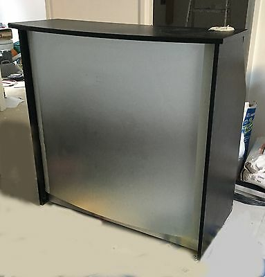 Salon Reception Desk with Silver front